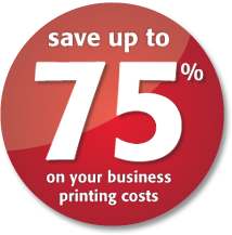 Save up to 75% on your business printing costs
